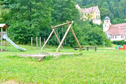Spielplatz Lauterstein, Landgasthof Linde, Aussicht Weißenstein